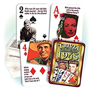 1945 Trivia Playing Cards 70th Birthday or 70th Anniversary Gift