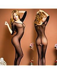 LPPKZQ-Cuerpo transparente medias mujeres sexy sexy cuerpo a partir despegue pantyhose lingerie,Código:,t + pantalón negro perla