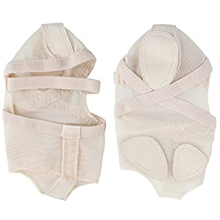 ANGTUO Belly/Ballet Dance Toe Pad Practice Shoes foot Protection Socks Costume gaiters,Skin-color