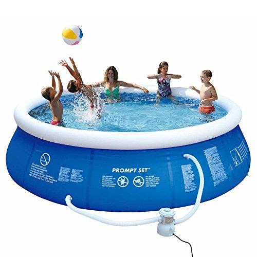 Jilong Marin Blue Rundpool Set Ø 360×84 cm mit Becken Pumpe Filter-Kartusche, Quick-Up Swimming Pool Fast-Set Kinder und Familien Schwimmbecken Schwimmbad für Garten und Terasse - 3