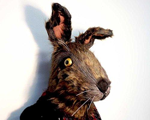 Große braune Hase Kaninchen Tier Kostüm Maskerade Maske Kopf. Für Erwachsene, Frauen, Männer. Tierfreundlicher Hase. Handgefertigt von Tentacle Studio. (Tier Maskerade Kostüm)