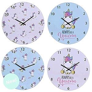 Desconocido Reloj Pared Unicornio Madera
