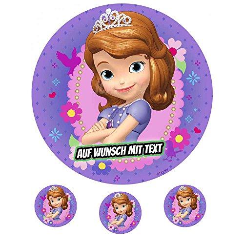 Tortenaufleger Geburtstag Tortenbild Zuckerbild Oblate Motiv: Disney Princess Sofia 02 (Oblatenpapier)