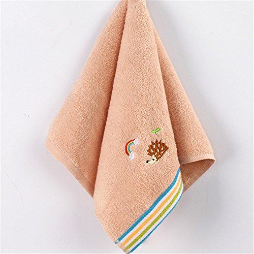 MF 25x 50cm 100% Baumwolle bestickt Cartoon Tier Muster Zucker Farbe Soft Baby Kinder Kid 's Badezimmer Hand Gesicht Handtuch (grün), rose, 25x50cm -