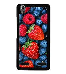 printtech Strawberry Fruits Back Case Cover for Lenovo A6000 Plus