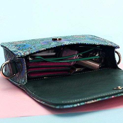 Frau Messenger Tasche Handtasche Wald Umhängetasche Druck OneColor