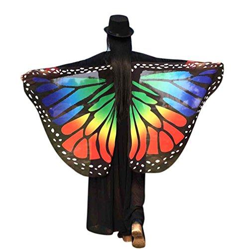 Lebhaft Frauen Schmetterlings Flügel sunnymi Weiche Gewebe Schal Kostüm Für MädchenKinder Reise Show Daily Party (Klassisch Chiffon, (Weiches Kostüm Flügel)