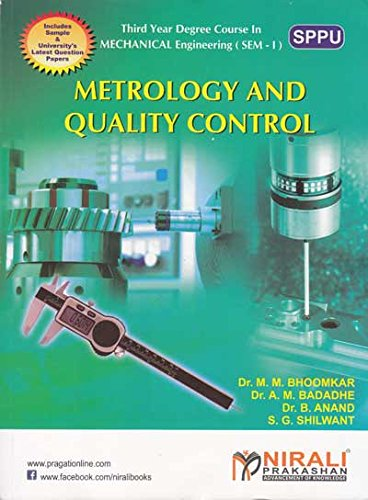 Metrology And Quality Control (First Edition,2016)