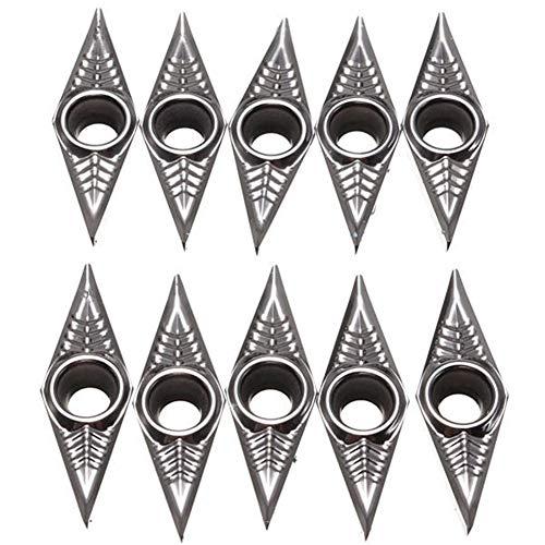 SenQing 10pcs Blades Insert Drehwerkzeug for Aluminium VCGT160404-AK Schneidewerkzeug