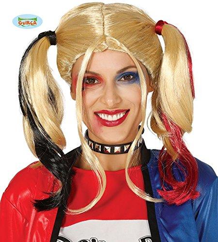 Guirca Perücke Damen Adulta Harley Quinn, blond 4389