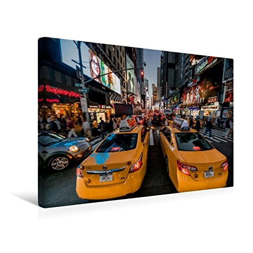 Calvendo Premium Textil-Leinwand 45 cm x 30 cm quer, New York 7th Avenue | Wandbild, Bild auf Keilrahmen, Fertigbild auf echter Leinwand, Leinwanddruck: der Avenue of The Americas Orte Orte