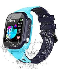 Kinder Smartwatch IP67 Wasserdicht - Kinder Intelligente Uhr LBS Tracker, Kids Smart Watch mit Anruf Sprachchat SOS Wecker Spiele,Kinder Smartwatch für Junge Mädchen Schüler Zurück in die Schule Gift