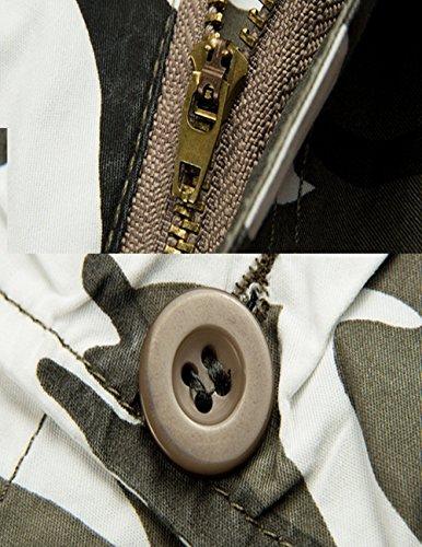 MENSCHWEAR Uomo Pantaloncini corti Bermuda Cargo short con tasconi laterali con cintura camouflage