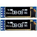 MakerFocus 2pcs I2C OLED Display Module 0.91 Inch I2C SSD1306 OLED Display Module White I2C OLED Screen Driver DC 3.3V~5V For Arduino