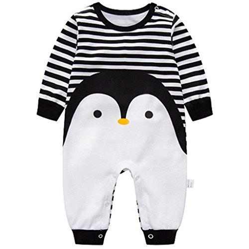 ler Jungen Mädchen Schlafanzug Baumwolle Overalls Säugling Spielanzug Baby-Nachtwäsche (Pinguin, 6-9 Monate) ()