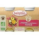 Babybio Pots Pomme d'Aquitaine Mangue 260 g -