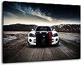 Dark Dodge Viper, Leinwand Bild, Format:80x60 cm,Bild auf Leinwand bespannt, riesige XXL Bilder komplett und fertig gerahmt mit Keilrahmen, Kunstdruck auf Wand Bild mit Rahmen, günstiger als Gemälde oder Bild, kein Poster oder Plakat