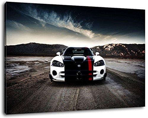 dark-dodge-viper-leinwand-bild-format80x60-cm-bild-auf-leinwand-bespannt-riesige-xxl-bilder-komplett