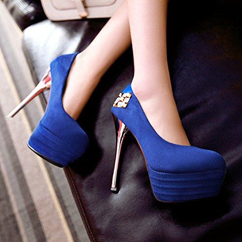 YCMDM Nouveau Chaussures à talon Chaussures simples Femmes Bleu Rouge Noir Taille 32 33 34 35 36 37 38 39 40 41 42 43 Black