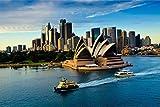 Sydney Australien Skyline Stadt XXL Wandbild Foto Poster P0002 Größe 90 cm x 60 cm, Größe 90 cm x 60 cm