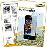 2x mumbi Panzerfolie iPhone 4/4S Glasfolie Hartglas 9H (1 x VORNE und 1 x RÜCK Folie)