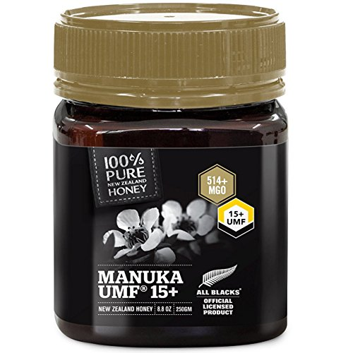 Rein neuseeländischer zertifizierter UMF 15+ Manukahonig (8,8 oz) - All Blacks Official Licensed Honey - 400 Rugby