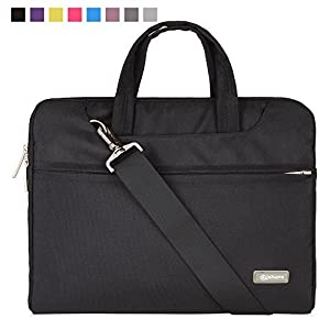 51gy3iQnmxL. SS300  - Qishare 11,6-12 Pulgadas Multifuncional portátil Hombro Bolsa maletín portátil de Ordenador portátil Caso Portador de la Ordenador portátil Messenger Caso(11,6-12 Pulgadas, Azul)