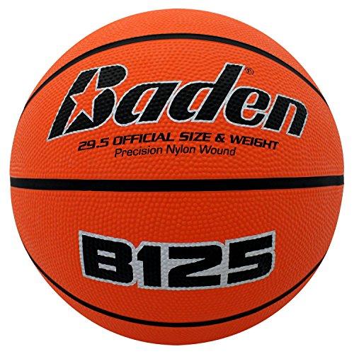 Baden Basketball Deluxe aus Gummi, Natural Orange Color, 28.5-Inch -