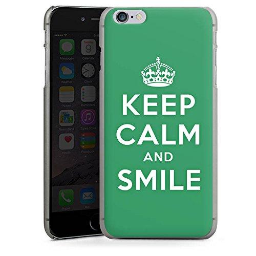 Apple iPhone X Silikon Hülle Case Schutzhülle Keep Calm and Smile Sprüche Grün Hard Case anthrazit-klar