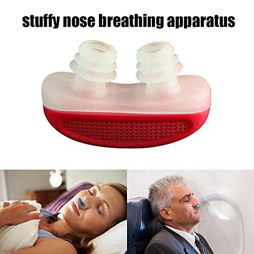Leegoal (TM) bucal antirronquidos Snore Free Snore stopper magnético silicona pinza de nariz para dormir dispositivo Stuffy nariz los aparatos de respiración, color azul