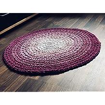Maison Zoe Pesada Alfombra en Crochet Ronda en Tres Tonos de Rosa ø85cm - 100%