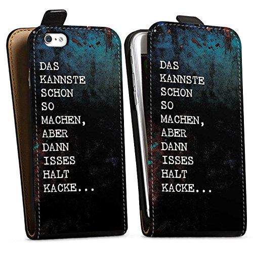 Apple iPhone X Silikon Hülle Case Schutzhülle Kacke spruch Statement Downflip Tasche schwarz