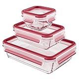 Emsa 514169 3-teiliges Frischhaltedosenset mit Deckel