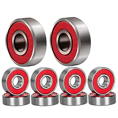 Qpower 20 Stück Skateboard Lager, 608 ABEC-7 High Speed Abgriffsicher Skating Stahl Rad Roller, Precision Inline Skate Lager für Longboard, Kick Scooter, Rollschuhe (Inline-skate-rad-lager)