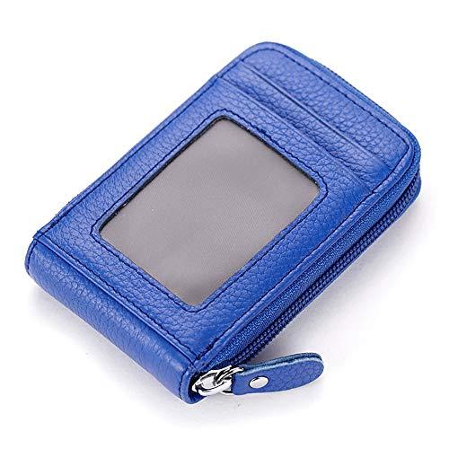 QKa Damen Kreditkarteninhaber Geldbörse Lady RFID Leder Reißverschluss Geldbörse ID Case Unisex,2 (Id-geldbörse Rfid Zwei)