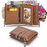 Wilbest Portefeuille Homme, Porte Monnaie Cuir Véritable Porte Carte Wallet avec 2...