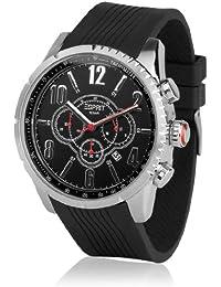 ESPRIT–ES104221001–Folsom–Armbanduhr–Quarz Chronograph–Zifferblatt schwarz Armband Kautschuk schwarz