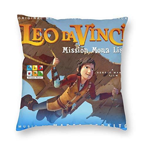 Gifetee Leo Da Vinci Mission Mona Lisa Dekokissen Fall Platz Kissenbezug Kissenbezug Protektoren Für Sofa Bank Couch Autositz Bett 12