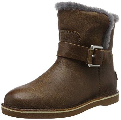 Shabbies AmsterdamShabbies buckle strap short boot 17cm Merino lammy lining Alexia - Stivaletti corti imbottiti Donna , Marrone (Braun (Africa)), 36 EU