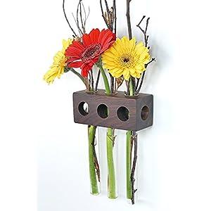 Fenstervase Nuss 3er Blumenvase Test Tube Vase Flower Vase