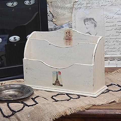 Vintage Briefablage Holzablage Ablage Landhaus Shabby Schreibtischablage