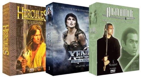 Serien-Package: Highlander Staffel 1 + Xena Staffel 1 + Hercules Staffel 1 (23 DVDs)