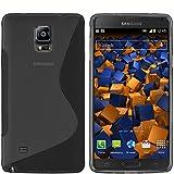 mumbi S-TPU Schutzhülle für Samsung Galaxy Note 4 Hülle transparent schwarz