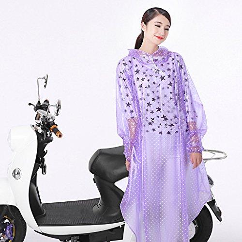 Poncho moto voiture électrique avec des manches épais pour augmenter le grand chapeau imperméable transparent ( Couleur : A ) G