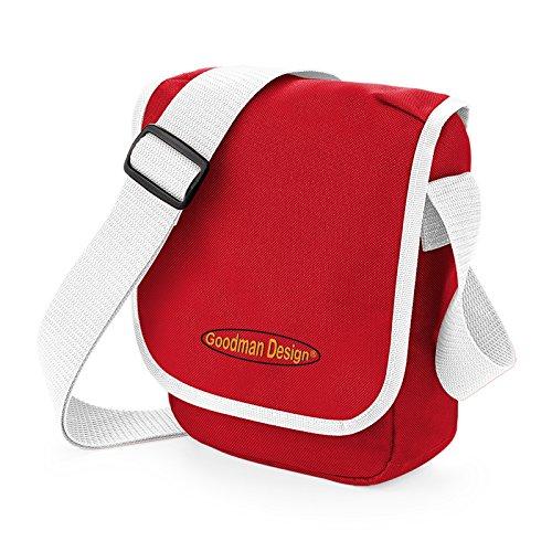 Coole Umhängetasche für Kinder Jugendliche Mädchen Jungs Tasche Schultertasche Reportertasche mit Goodman Design