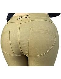 Femmes Pantalons Skinny Déchirés Haute Stretch Taille Crayon Mince Pantalon Sport, Yoga, Pilates, Plank, Jogging et Fitness