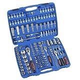 Steckschlüsselsatz Hug Flight® Werkzeugkoffer mit Werkzeug Ratschenkasten Werkzeugset Knarrenkasten 171tlg