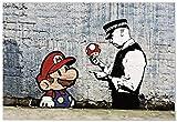 Panorama Poster Graffiti Banksy Super Mario Bro 70 x 50 cm - Imprimée sur Papier 250gr de Grande qualité - Poster Banksy - Moderne Art pour la Maison - Décoration Murale - Banksy Poster Art