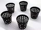 10 Stück Gittertöpfe Gittertopf 5 cm Durchmesser, Pflanzenkorb Rund 5 x 5 cm (Ø x h)