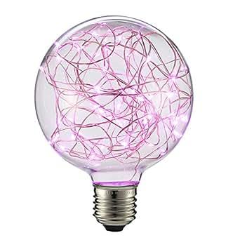 kingso led edison lampe g95 globe vintage gl hbirne lichterkette lampe e27 85 265v ideal f r. Black Bedroom Furniture Sets. Home Design Ideas